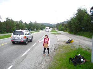 Hitchhiking in Norway